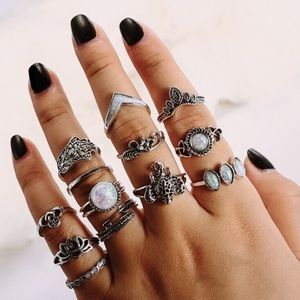 Jewelry - Boho Ring Set of 13